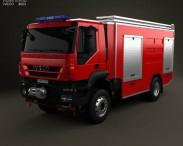 3D model of Iveco Trakker Fire Truck 2012