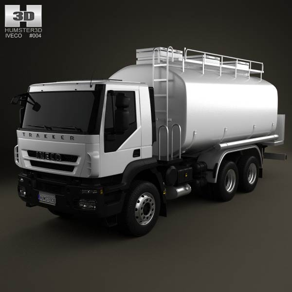Iveco Trakker Fuel Tank Truck 3-axis 2012 3d car model