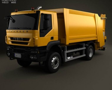 3D model of Iveco Trakker Garbage Truck 2012