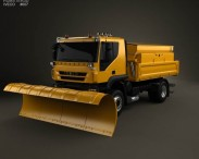 3D model of Iveco Trakker Snow Plow Truck 2012