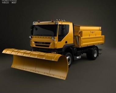 3D model of Iveco Trakker Snow Plow Truck 2012