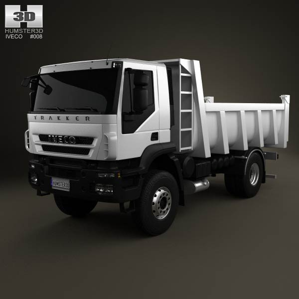 Iveco Trakker Dump Truck 2-axis 2012 3d car model