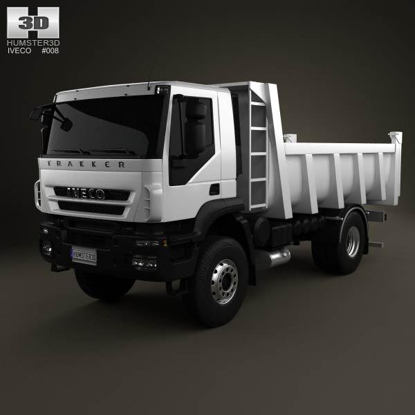 Iveco Trakker Dump Truck 2012 3d car model