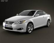 3D model of Lexus IS C (XE20) 2012