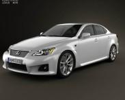 3D model of Lexus IS F (XE20) 2012