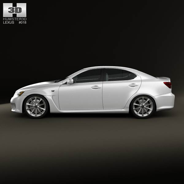lexus is f xe20 2012 3d model humster3d. Black Bedroom Furniture Sets. Home Design Ideas