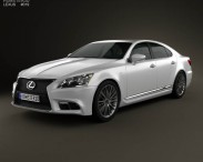 3D model of Lexus LS F sport (XF40) 2012