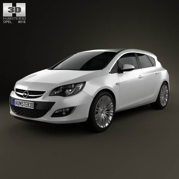 Opel Astra J hatchback 5-door 2012 3d car model