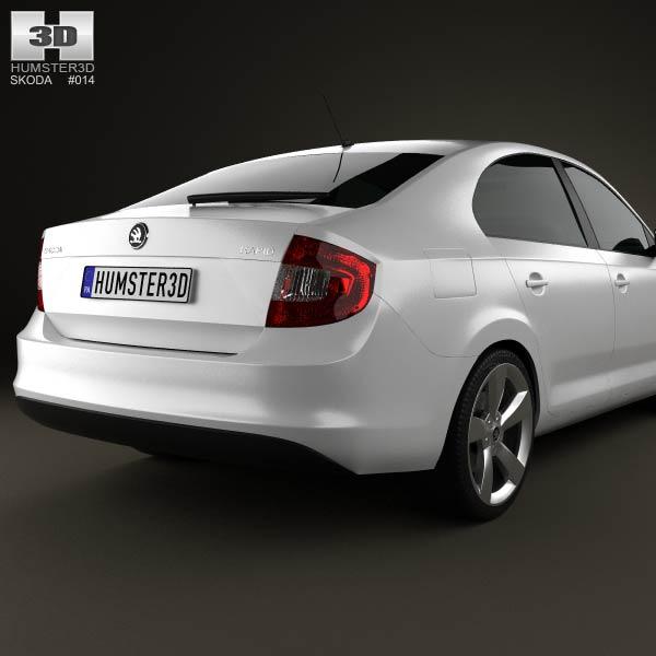 3d model of skoda rapid 2012