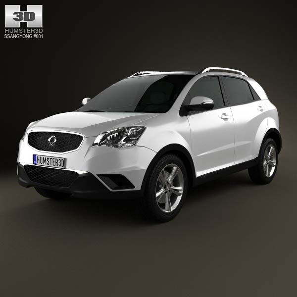 SsangYong Korando (New Actyon) 2012 3d car model