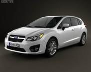3D model of Subaru Impreza hatchback 2012