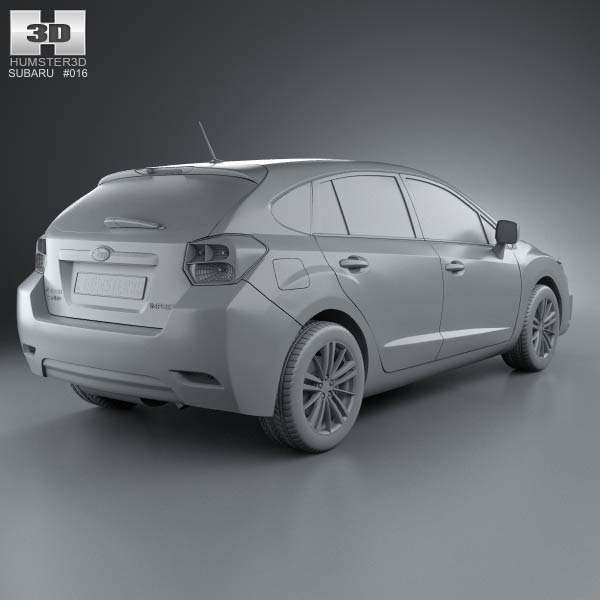 subaru impreza hatchback 2012 3d model humster3d. Black Bedroom Furniture Sets. Home Design Ideas
