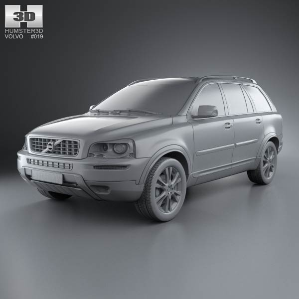 volvo xc90 2012 3d model humster3d. Black Bedroom Furniture Sets. Home Design Ideas