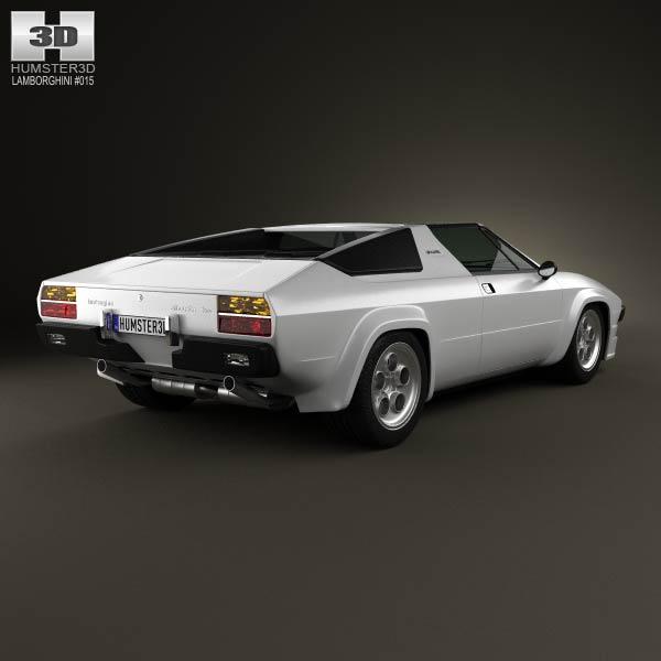 Lamborghini Silhouette P300 1976 3d model