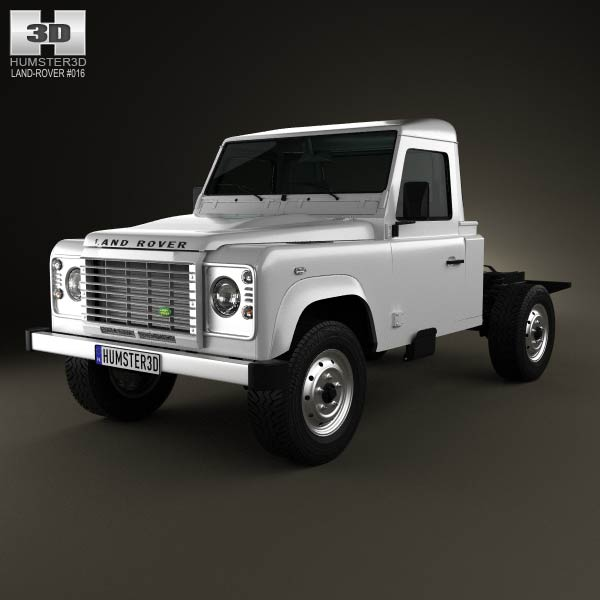 Land Rover Defender 110 Chassis Cab 2011 3d car model