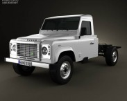 3D model of Land Rover Defender 130 Chassis Cab 2011