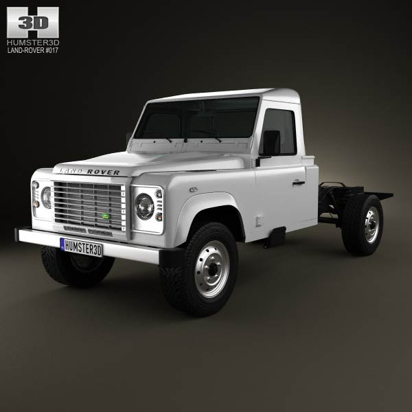 Land Rover Defender 130 Chassis Cab 2011 3d car model