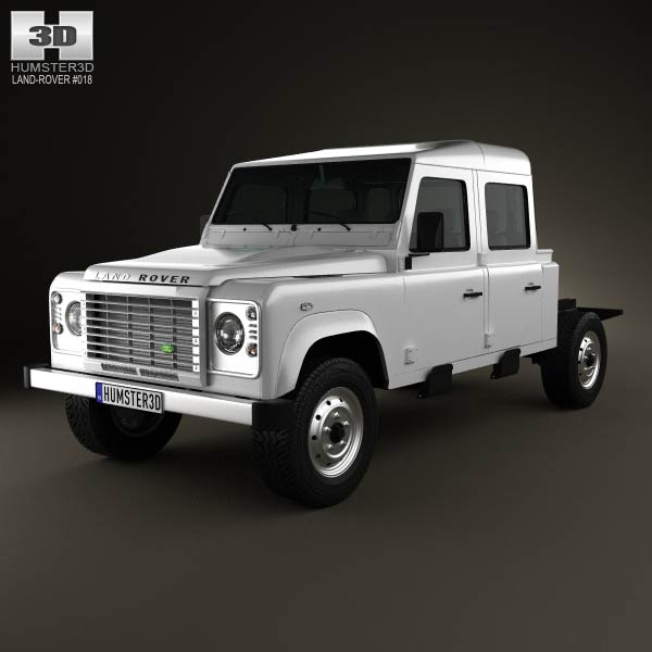 Land Rover Defender 130 Double Cab Chassis 2011 3d car model