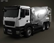 3D model of MAN TGS Mixer Truck 2012