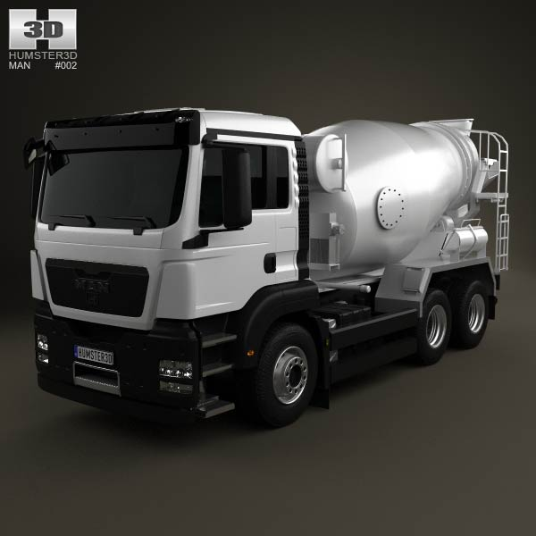 MAN TGS Mixer Truck 2012 3d car model