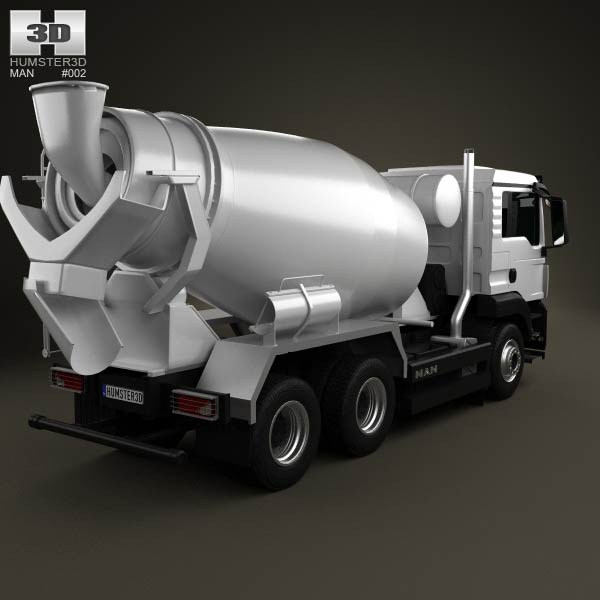 MAN TGS Mixer Truck 2012 3d model