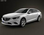 3D model of Mazda 6 wagon 2013