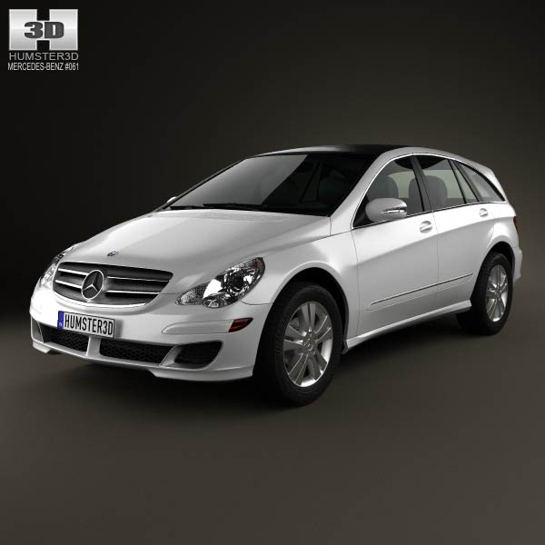 Mercedes benz r class w251 2006 3d model humster3d for Mercedes benz r350 2006