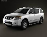 3D model of Nissan Armada 2012