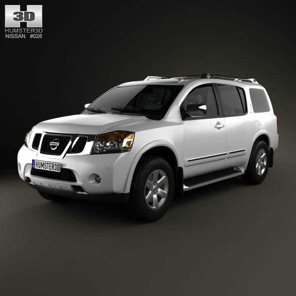 Nissan Armada 2012 3d car model