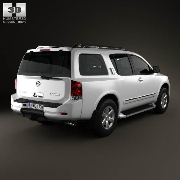 Nissan Armada 2012 3d model