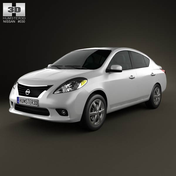 Nissan Versa (Tiida) sedan 2012 3d car model