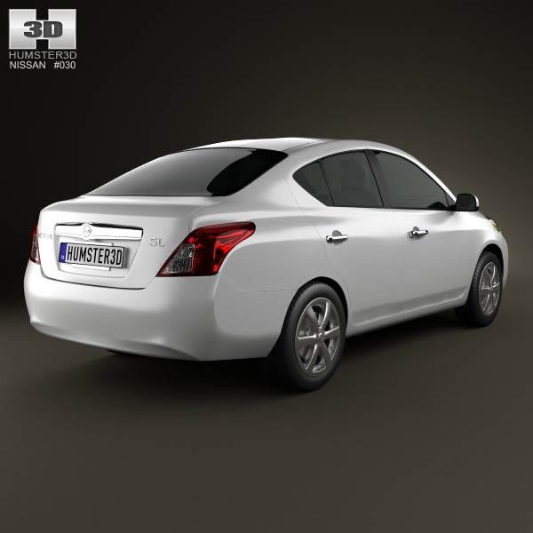 Nissan Versa (Tiida) sedan 2012 3d model