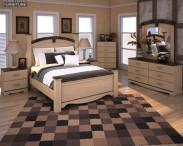 3D model of Ashley Olivia Bay Poster Bedroom Set