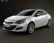 3D model of Opel Astra J sedan 2012