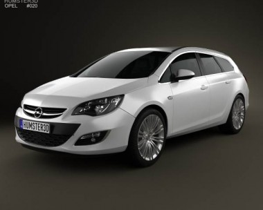 3D model of Opel Astra J sports tourer 2012