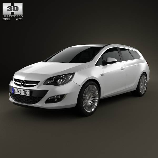 Opel Astra J sports tourer 2012 3d car model