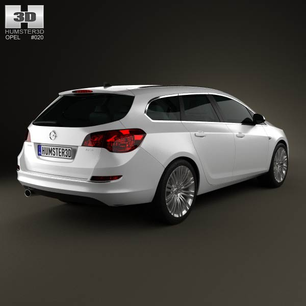 Opel Astra J sports tourer 2012 3d model