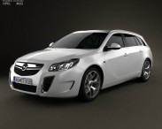 3D model of Opel Insignia OPC Sports Tourer 2012
