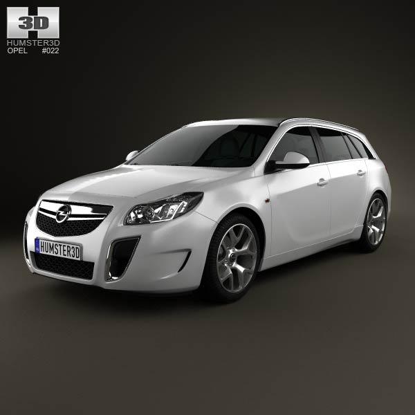3D model of Opel Insignia OPC Sports Tourer 2012