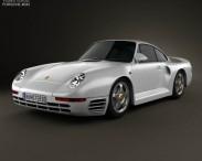 3D model of Porsche 959 1986