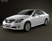 3D model of Toyota Crown Royal Saloon (S200) 2010