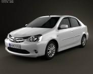 3D model of Toyota Etios 2012