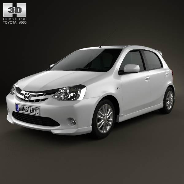3D model of Toyota Etios Liva 2012