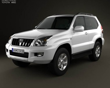 3D model of Toyota Land Cruiser Prado (120) 3-door 2009