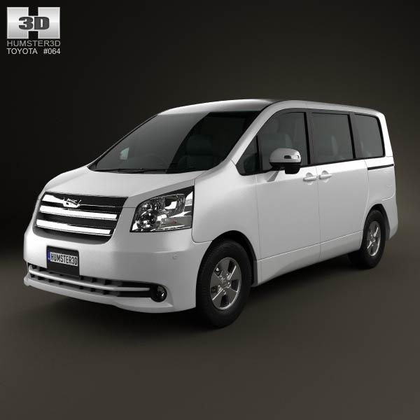 3D model of Toyota Noah (Voxy) 2010
