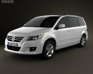 3D model of Volkswagen Routan 2012