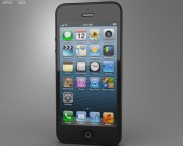 3D model of Apple iPhone 5 Black