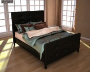 3D model of Ashley Carlyle Queen Upholstered Bed