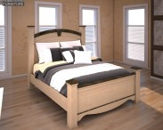 3D model of Ashley Olivia Bay Queen Poster Bed