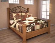 3D model of Ashley Rosalie Queen Poster Bed